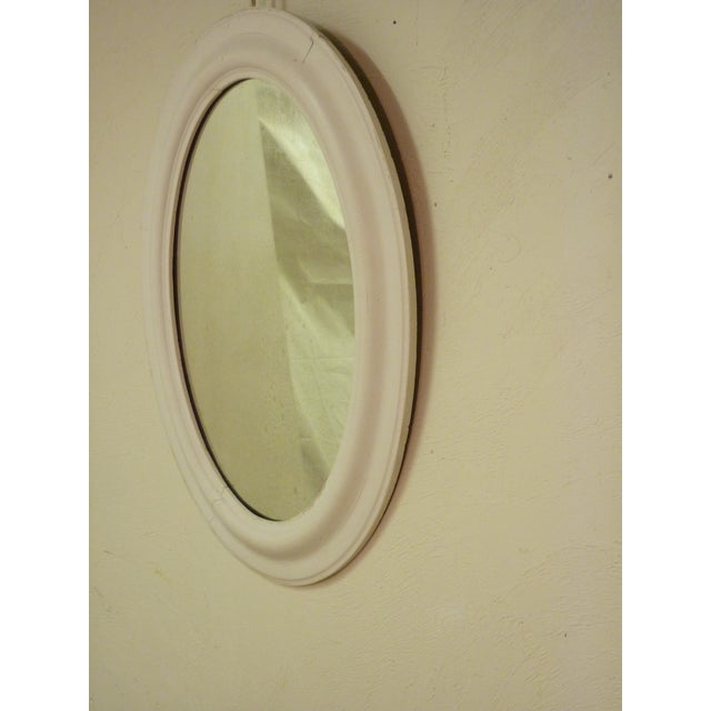 Oval Whitewashed Mirror - Image 4 of 6
