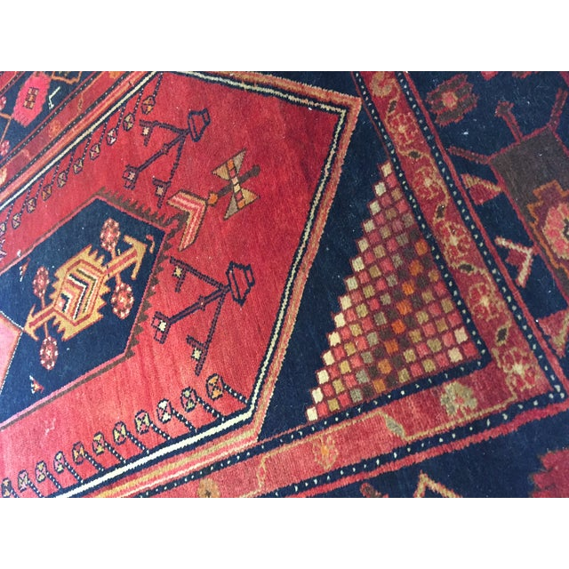 """Vintage Hand Knotted Turkish Rug - 4'11"""" x 8'11"""" - Image 5 of 10"""