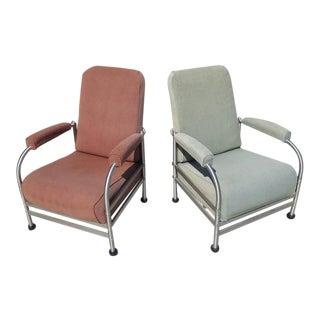 Warren McArthur Art Deco Pair of Armchairs - All Original