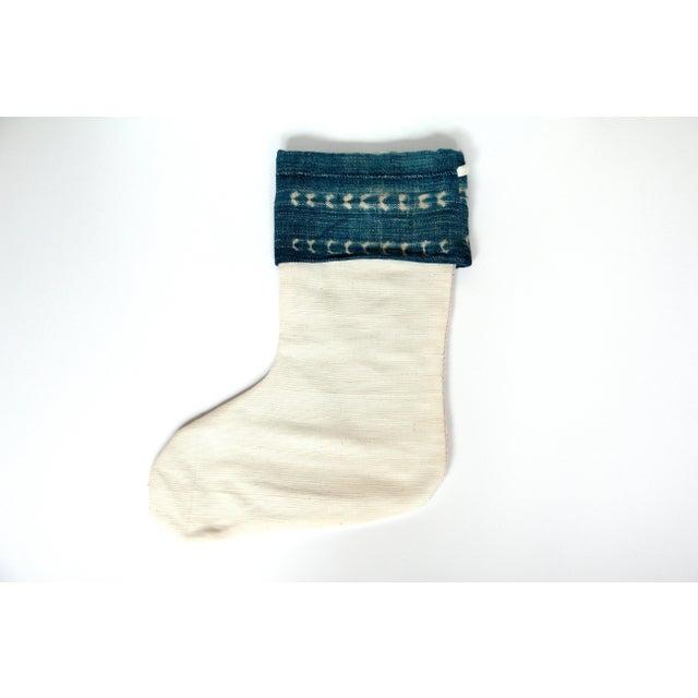 Image of Vintage Indigo and Mudcloth Christmas Stocking