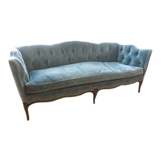 Vintage Tufted Velvet Sofa