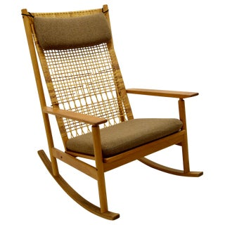 Hans Olsen Vintage Danish Teak Rocking Chair