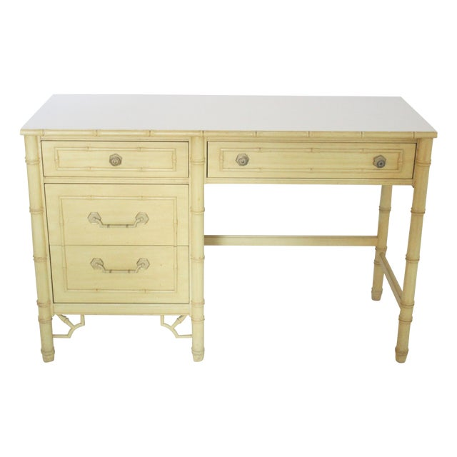 Thomasville Faux Bamboo Desk With Fretwork - Image 1 of 11