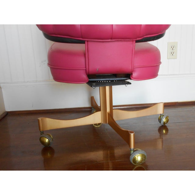 Pink Tufted Swivel Chair - Image 9 of 10
