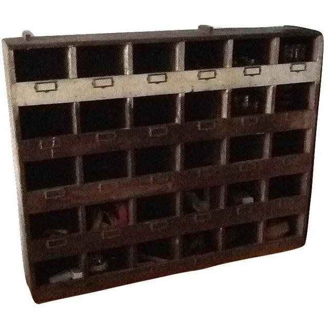 Vintage Industrial Wood Pigeon Hole Storage Shelves - Image 10 of 10