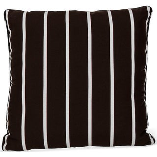 Brown Striped Outdoor Pillow