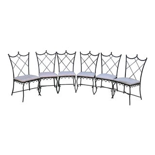 Vintage Outdoor Wrought Iron Chairs - Set of 6