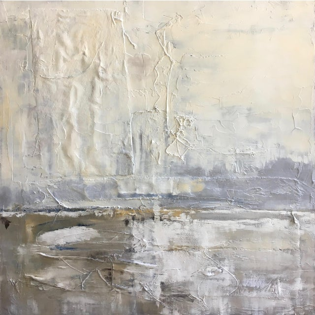 Obscured Horizon Mixed Media Painting - Image 1 of 6