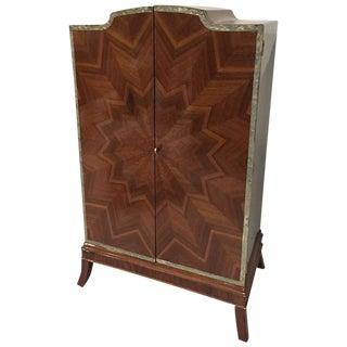 French Art Deco Sunburst Armoire