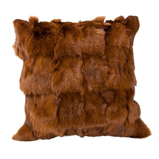 Brown Fox Fur Pillow