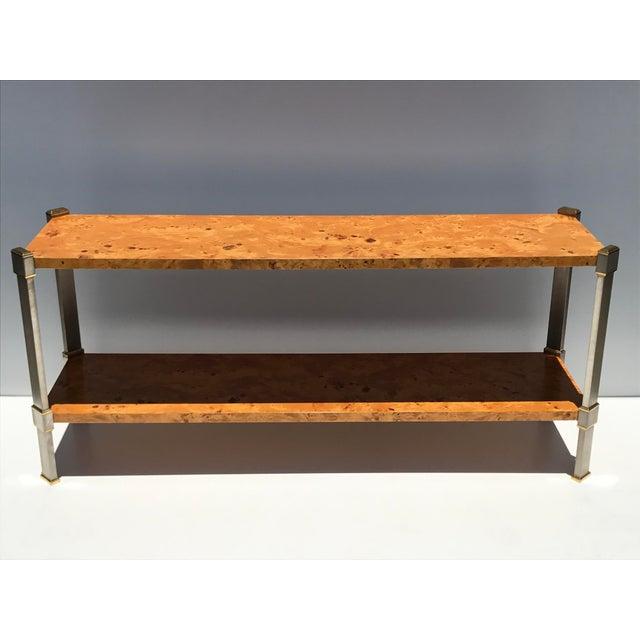 Burlwood Console Table Attributed to Romeo Rega - Image 2 of 11