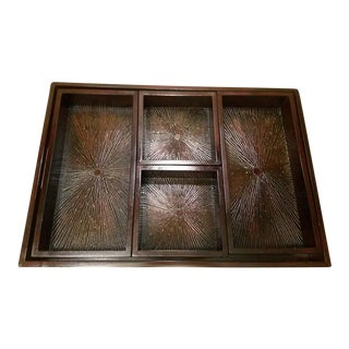 Wood Serving Tray & Bins