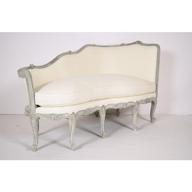 antique french louis xv style chaise lounge chairish. Black Bedroom Furniture Sets. Home Design Ideas