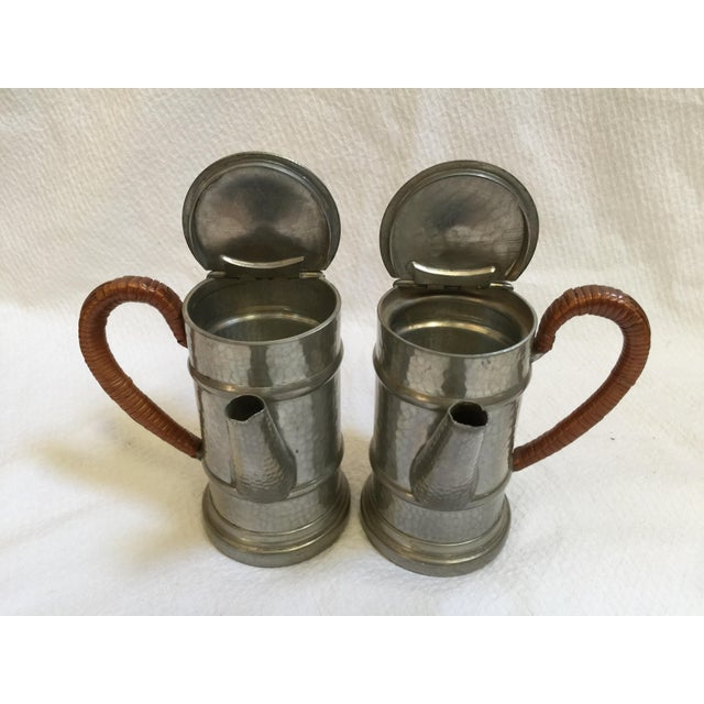 English Pewter Coffee Pots - A Pair - Image 7 of 9