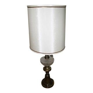 Brass & Glass Sculptural Table Lamp