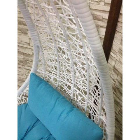 Single Tear Drop Rattan Swing Chair - Image 5 of 6