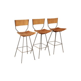 Arthur Umanoff for Raymor Mid-Century Modern Bar Stools - Set of 3
