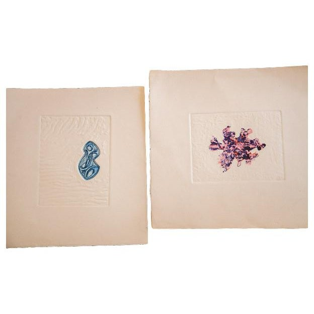 Image of Abstract Minimalist Etchings - Pair