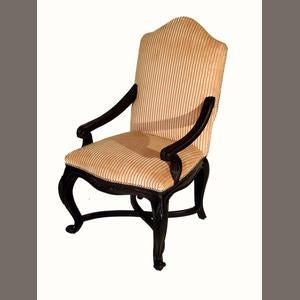 Louis XVI Style Walnut Fauteuil - Image 2 of 4
