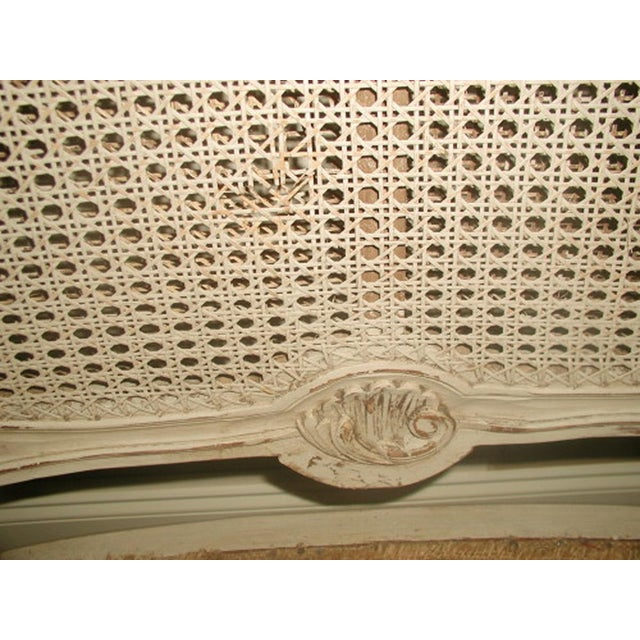 French 19th C. Hand Carved & Caned Settee - Image 9 of 10