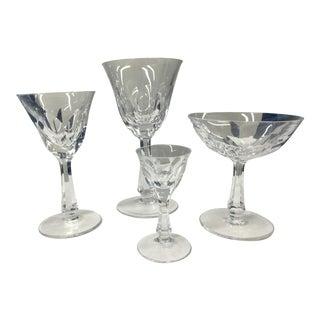 4 Types of Crystal Stemware Glasses Set - 48 Total