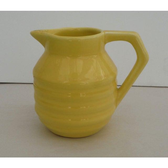 Yellow Majolica Pitcher - Image 2 of 3