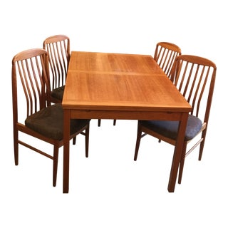 Benny Linden Mid-Century Dining Table & 4 Chairs