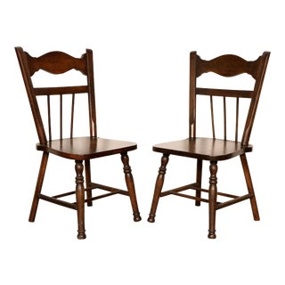 Antique Wooden Chairs - A Pair