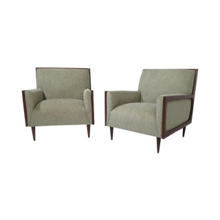 Outline Frame Mid-Century Lounge Chairs - Pair