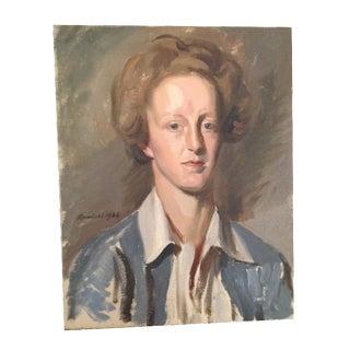 Man in a Blue Coat Portrait Painting
