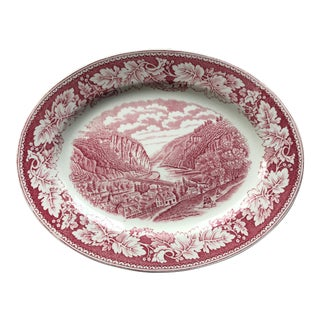 """A View of Harper's Ferry"" Small Laughlin Platter"