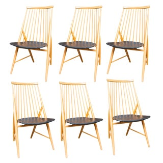 Swedish Spindle Back Dining Chairs - Set of 6