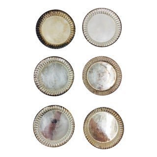 Vintage Silver Plated Coasters - Set of 6