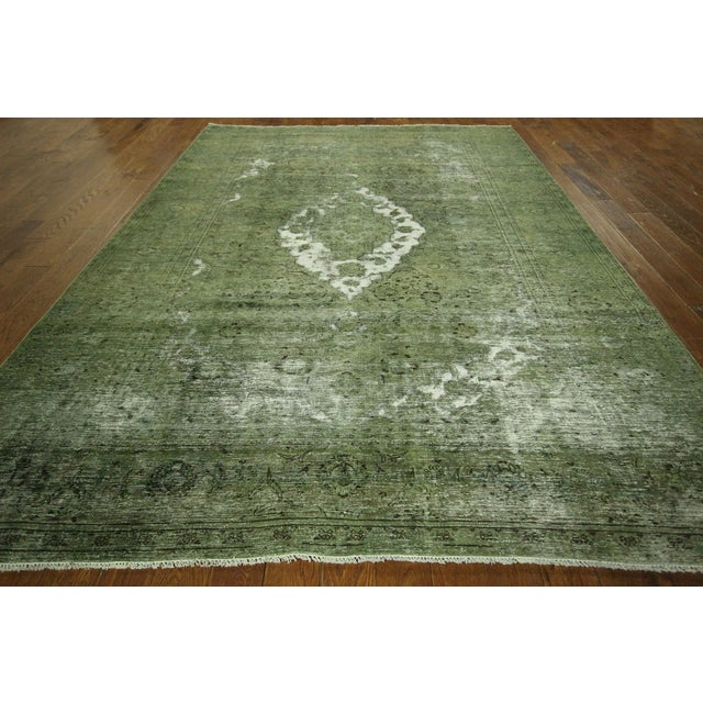Traditional Green Overdyed Area Rug - 8' x 11' - Image 3 of 10