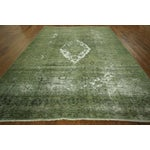 Image of Traditional Green Overdyed Area Rug - 8' x 11'