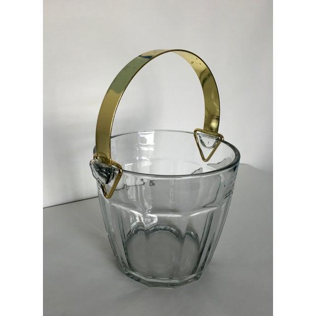 Vintage Glass & Brass Ice Bucket - Image 4 of 6