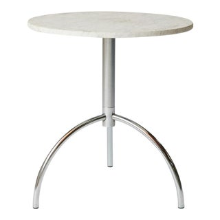 Dan Svarth occasional table in marble and chrome