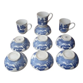 Ironstone Johnson Bros Mugs & Bowls - Set of 10