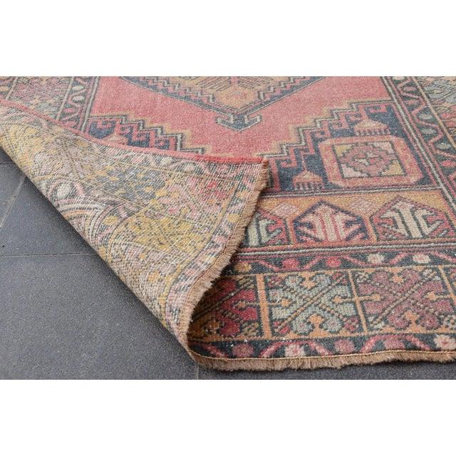 "Vintage Turkish Handmade Anatolian Wool Carpet - 3'6"" X 5'6"" - Image 7 of 7"