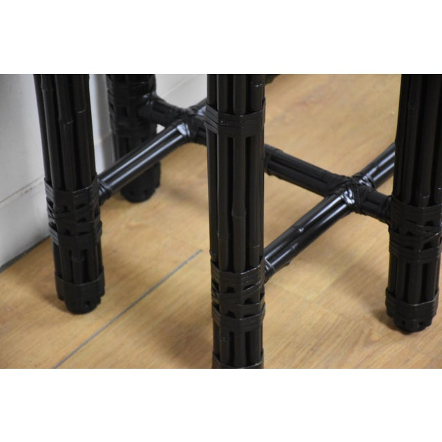 McGuire Black Bamboo Dining Table Base - Image 5 of 11