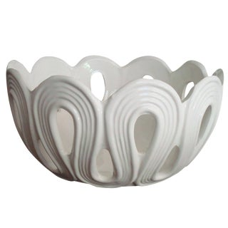 Modern White Loop Bowl