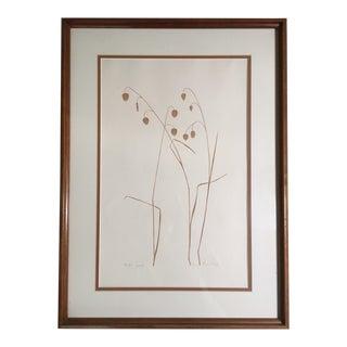 "Mid-Century ""Grass"" Linocut"