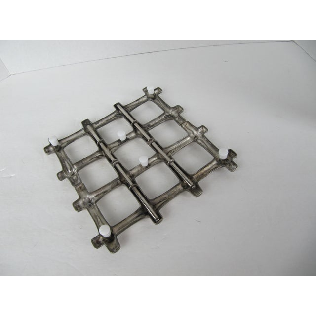 Silverplate Bamboo Trivet - Image 5 of 5