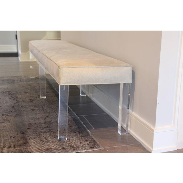 Image of Long Lucite Bench