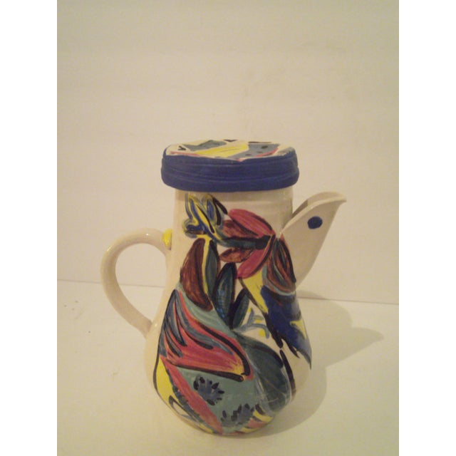 Image of Art Pottery Covered Carafe