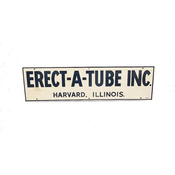 Image of 1970s Metal Erect-A-Tube Sign