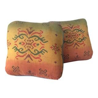 Sunset Ikat Throw Pillows- A Pair