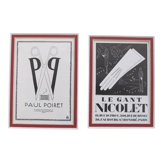 1920's British Art Deco Paul Poiret Matted Poster Set