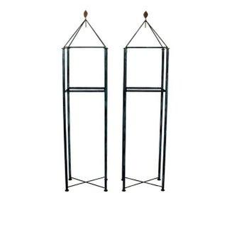 Pair of Mario Villa Display Shelves, Etagere or Pedestals