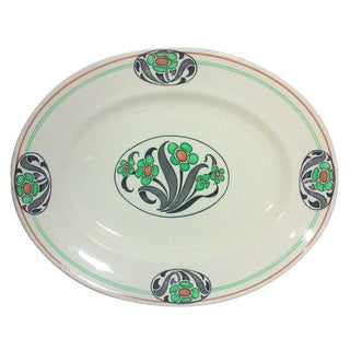 English Art Deco Oval Platter